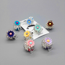FS503 Flower Hair Claw Clip Crystal  Hairpin Hair Band Accessories for Women Girls Lady Hairpin Barrette Crab claw hair clip claw hair clip 6pcs