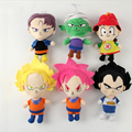 New Kawaii Arrivals Japaness Anime Dragon Ball Plush Toys Super Hero Goku Vegeta Stuffed Dolls 22CM Cartoon