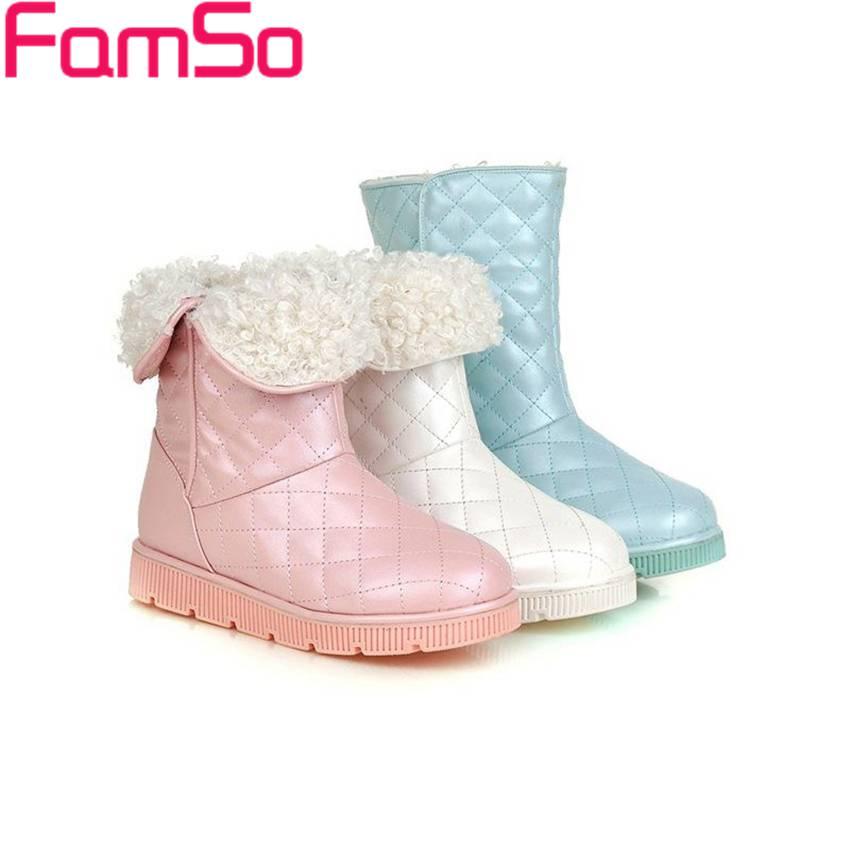 Free shipping 2016 New Sexy font b Women b font Boots Designer Flats Shoes Waterproof Warm