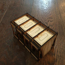 Board Wooden Basswood Container For Gloomhaven War Games Hammer TRPG Tabletop RPG Panel laser Cutting