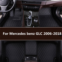 leather car floor mats for Mercedes benz GLC 2016 2017 2018 Custom auto foot Pads automobile carpet cover