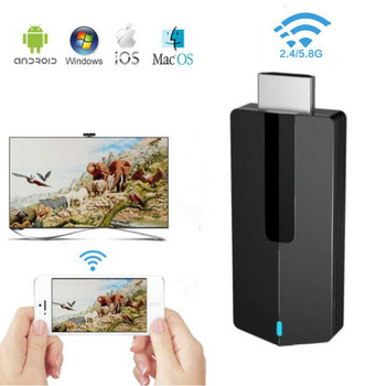 Wireless Wifi Display Receiver HDMI Dongle 2.4Ghz+5G MiraScreen Dual-Band 4K HD Image TV Stick Miracast Airplay Mirroring TV Stick