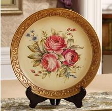 Ceramic decorative plate, home wall hanging plate, home decorative arts and crafts
