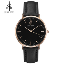 KING HOON Fashion Brand Luxury watch males Casual watches waterproof watch ladies 38MM Dress relogio masculino relogio feminino