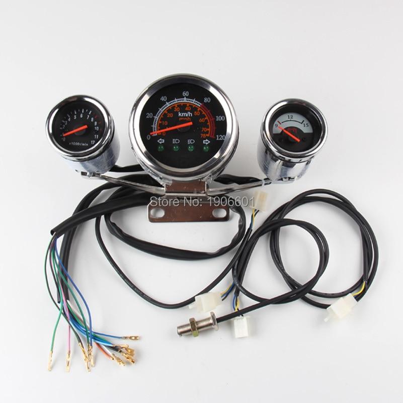 110cc 125cc 150cc 200cc 250cc ATV LCD Speedometer Odometer Speed Sensor