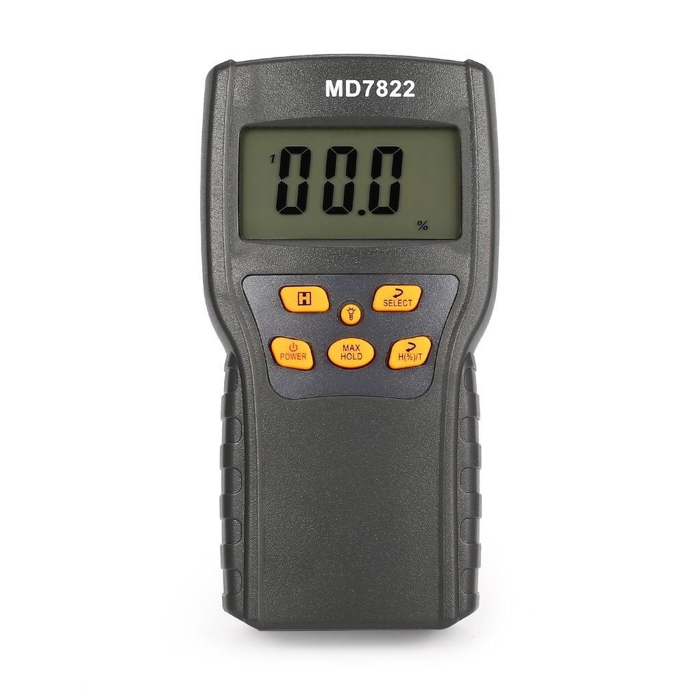 MD7822 Digital Grain Moisture Meter Analyzer Temperature Thermometer Humidity Hygrometer water Damp Detector Tester