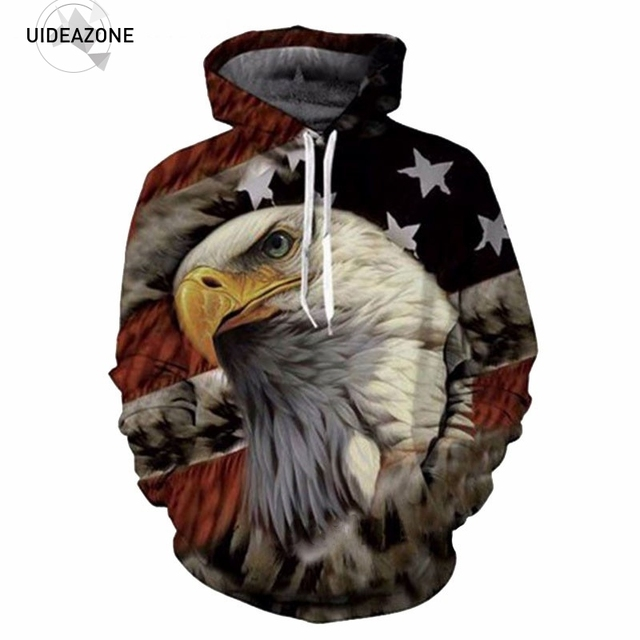 Eagle American Flag 3D Hoodies Men Women 2017 Brand Sportswear Tracksuit Sudadera Hombre Casual Pullovers Sweatshirt Dropship