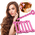 30 48Pcs Fashion DIY Spiral Hair Curler Ringlet Sponge Curls Hair Roller Salon Accessory