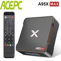 A95X MAX Android Tv Box Amlogic S905 X2 Quad core Cortex A53 2.4G&5G Wifi BT HDD HDMI2.1 USB3.0 Android 8.1 Box Video 1000M Net