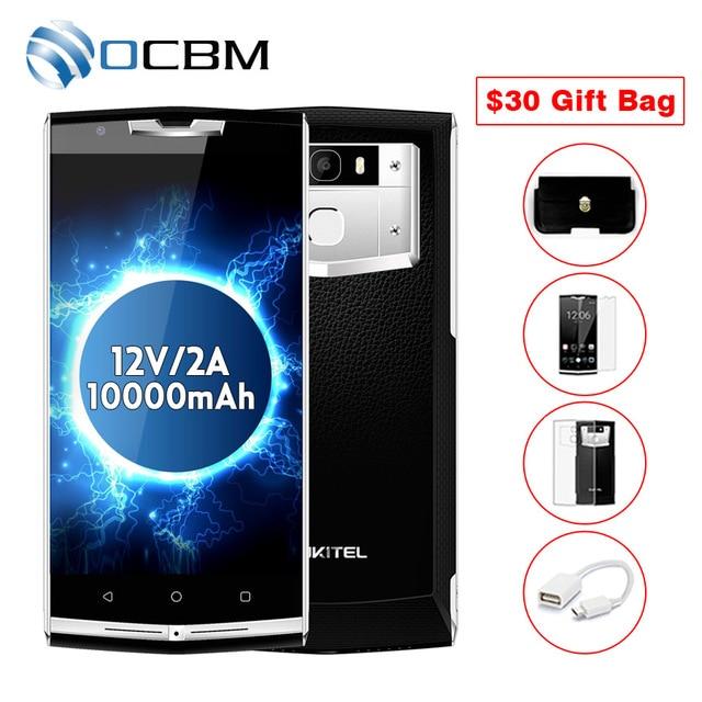 "Oukitel K10000 Pro Android 7.0 Мобильный телефон 5.5 ""FHD Octa core 3 ГБ Оперативная память 32 ГБ Встроенная память MTK6750T 12 в/2A Quick Charge отпечатков пальцев 10000 мАч"
