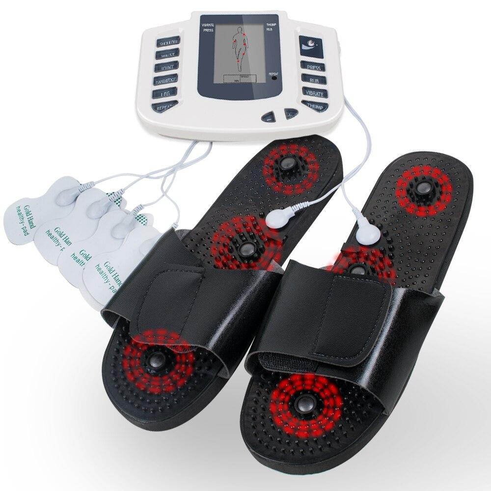 110V NewFull Body Relax Pulse Acupuncture Therapy with Slipper Body Massager Acupuncture Massager Digital Stimulator Massager потолочная люстра de markt грация 358018605