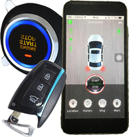 smart key auto ignition start engine mobile app lock or unlock door gps online real time location alarm trigger sms notification