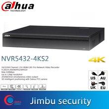 Dahua surveillance Video recorder NVR5432 4KS2 H.265 Up  12Mp resolution 32Ch 1.5U 3D intelligent positioning  Dahua PTZ camera