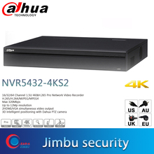داهوا مراقبة مسجل فيديو NVR5432 4KS2 H.265 يصل 12Mp قرار 32Ch 1.5U 3D ذكي المواقع داهوا كاميرا متحركة