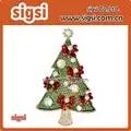 Kerstboom lint bow broche Pins Geschenken Crystal Vakantie Charmant Boom Vorm Kostuums hijab pin broches Sieraden