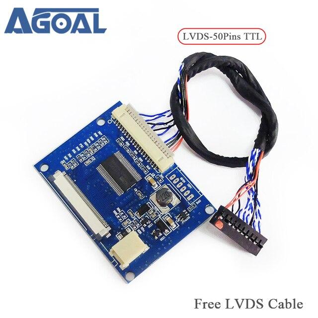Низковольтного дифференциального сигнала поворота 50pin TTL порт стандартный 20pin 1 ch 8 LVDS вход 50pin TTL Выход Бесплатная доставка