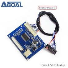 LVDS turn 50pin TTL port standard 20pin 1 ch 8 LVDS input 50pin TTL output Free Shipping