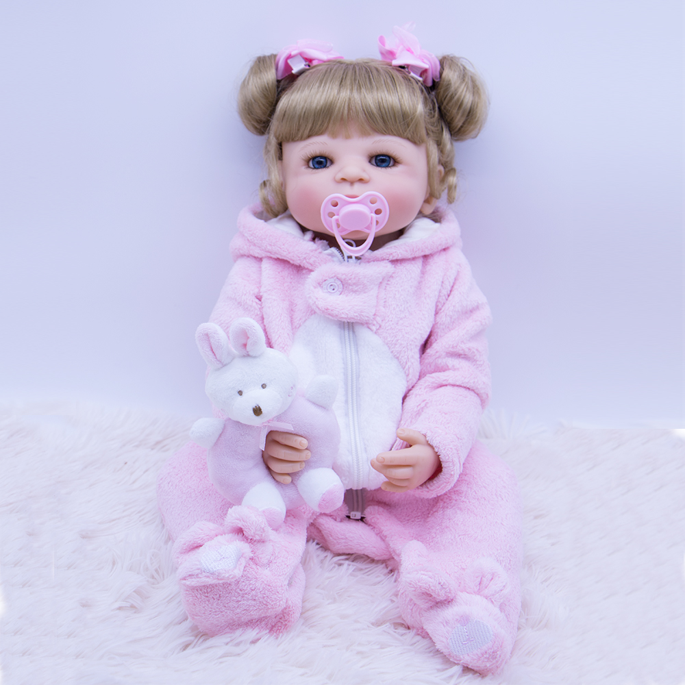 55cm Full Silicone Vinyl Reborn Girl Baby Doll Toys With plush toy 22inch Newborn Bebe Princess Babies Alive doll Play House Toy55cm Full Silicone Vinyl Reborn Girl Baby Doll Toys With plush toy 22inch Newborn Bebe Princess Babies Alive doll Play House Toy