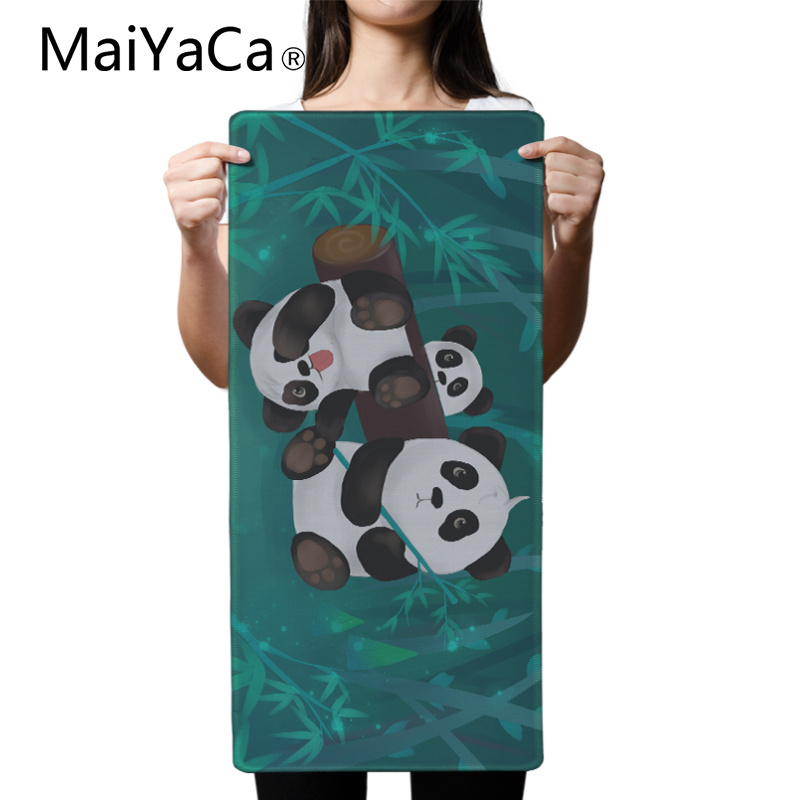 MaiYaCa Original Design Computer Speed Mouse Pads Cute Panda Eating Bamboo Gaming Mouse Pad Rubber Gamer Soft Comfort Mouse Mat