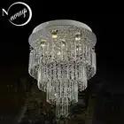 Хрустальная винтажная традиционная люстра, европейская современная лампа с GU10, 6 ламп для спальни, гостиной, отеля, ресторана, лобби бара