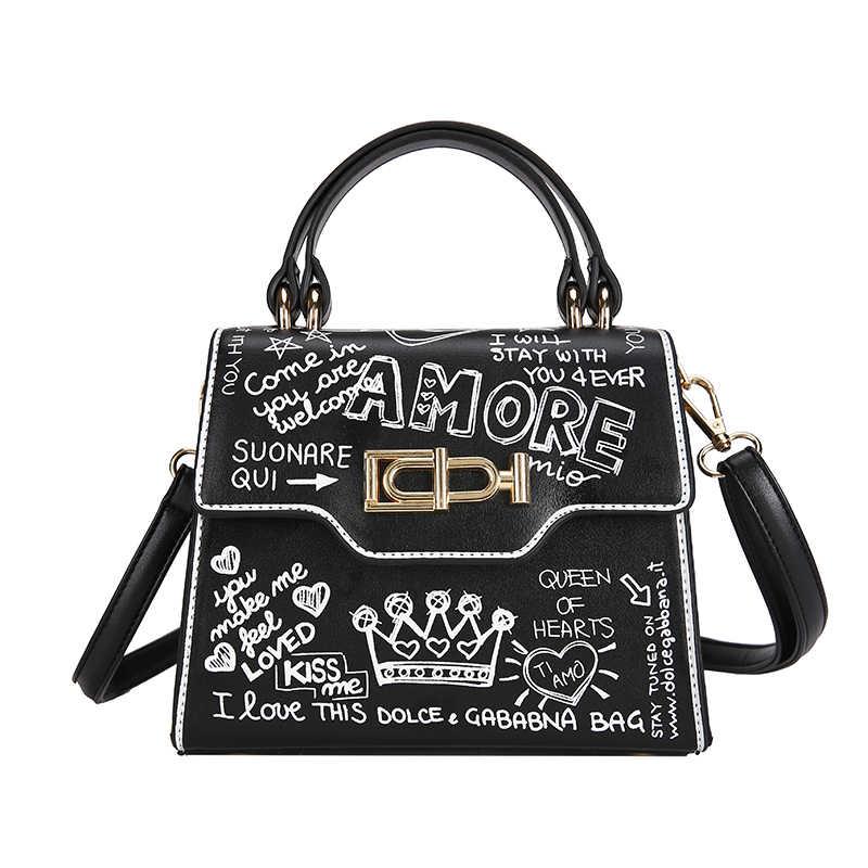 a18d3e0eadc Detail Feedback Questions about Personality Street Graffiti Handbags ...