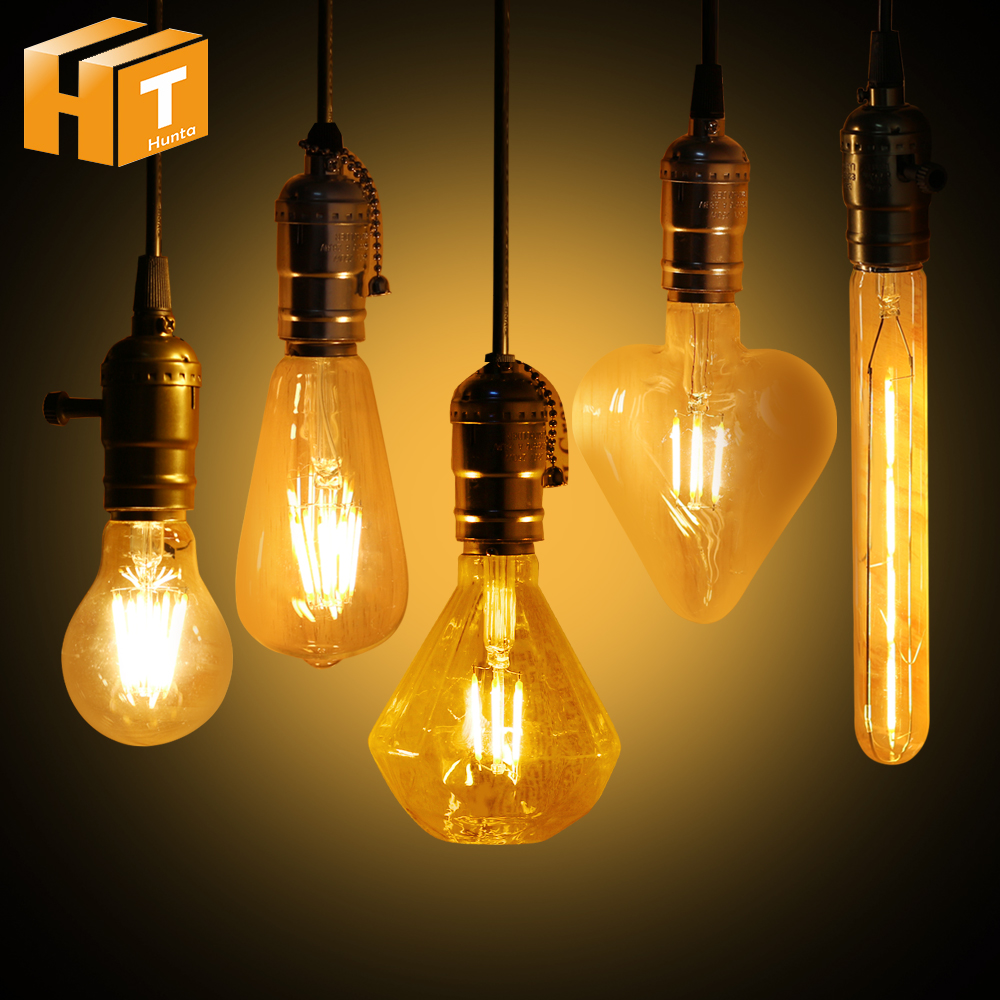 LED Bulb Filament led lamp e27 e14 2-8W COB Bulb light led 220V Retro Edison Decorative Vintage Style Lamp COB Light BULB e27 led 8w white warm white cob led filament retro edison led bulbs 85 265v
