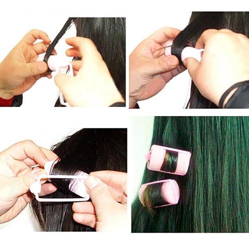 6Pcs Fashion Magic Sponge Foam font b Hair b font Curlers Curling font b Styling b