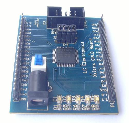 Free Shipping! 1pc Xilinx CoolRunner-II XC2C32A CPLD development board learning board