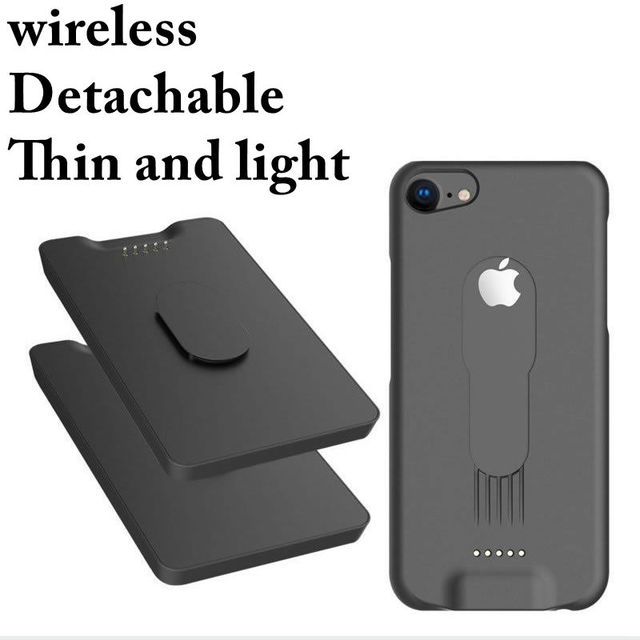 size 40 00098 a0896 US $18.92 |Battery Charger Cases for iphone 6 7 6plus 7 plus 6s 7s 5000mah  for apple phone X Wireless phone case charger Removable battery-in Battery  ...