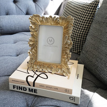 European-style American vintage gold ginkgo leaf 6 inch photo frame home decoration ornaments