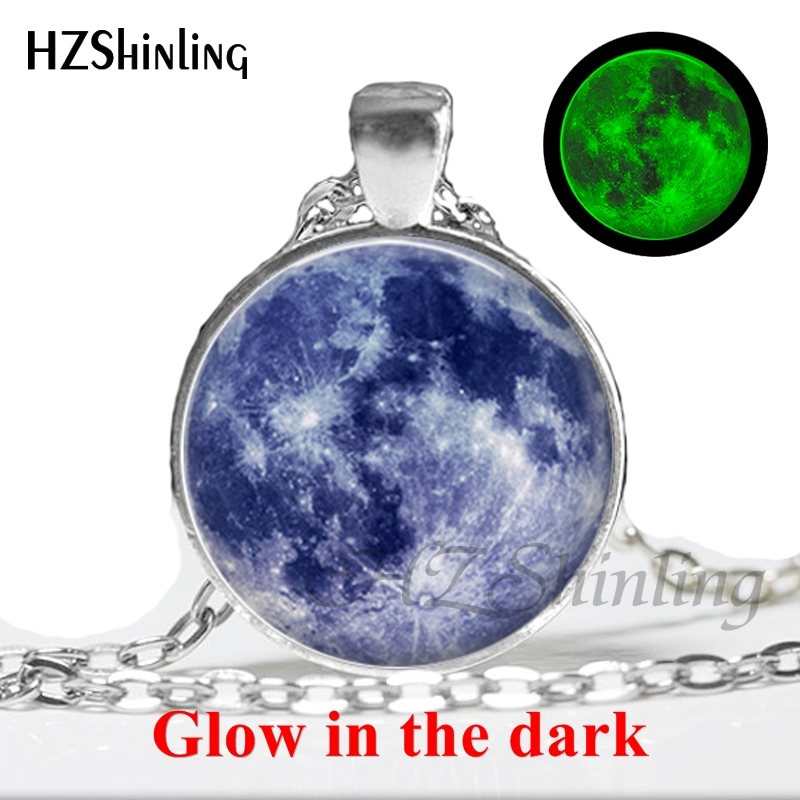 New Arrival Glowing Jewelry Full Moon Necklace 1