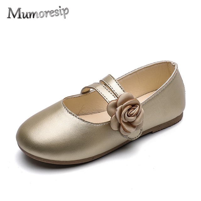 Mumoresip Kids Shoes For Girls Princess Sweet Floral Flats Children Flower  Soft Leather Shoes For Party Wedding Dancing 25-36 f3295589848a