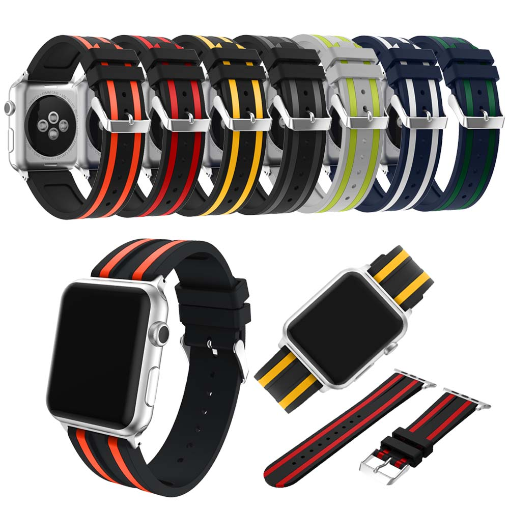 Soft Silicone Sport Band For Apple Watch Series 2 Replacement Strap for Apple iWatch Two colors
