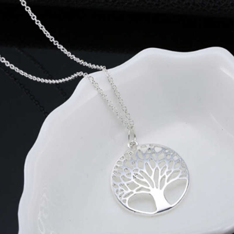 Fashion Tree Of Life Hollow Pendant Necklace Trendy Women Link Chain Necklaces Jewelry Gift For Women Girl