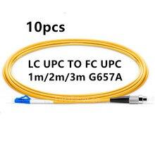 1m 2m 3m 10 unids/bolsa LC PC FC LC UPC FC UPC G657A de parche de fibra Cable Jersey parche Cable Simplex de PVC de 2,0mm SM