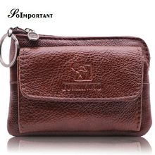 Vintage Wallet Purse Designer Brand Wallet Female Genuine Leather Women Wallets Luxury Mini Small Coin Purse Wallet Key Ring