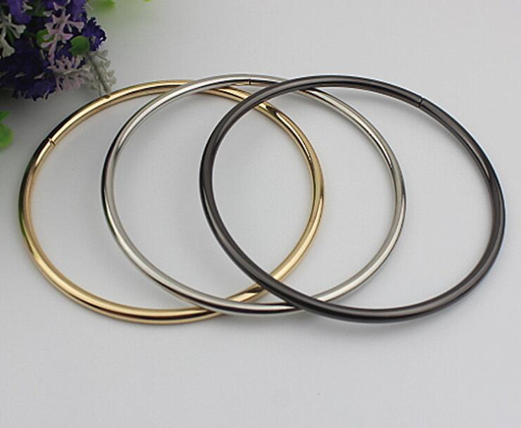 (10 PCS/lot) DIY hardware plating processing leather handbags large circle arm in arm buckle decorative accessories 6 pcs lot diy hardware plating processing leather handbags straps on both sides of the chain belt buckle decorative accessori