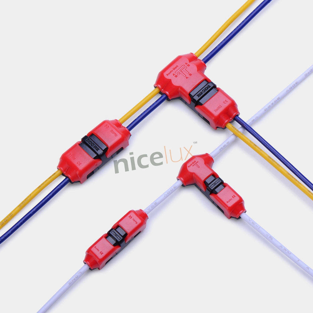 10pcs Quick Splice Wire Wiring Connector for AWG22-18 1-2pin LED Strip Wire Cable Electrical Crimp Terminal Blocks Conductor 5pcs quick splice scotch lock wire wiring connector for 1 pin 2 pin 22 18awg led strip wire car audio cable terminals crimp
