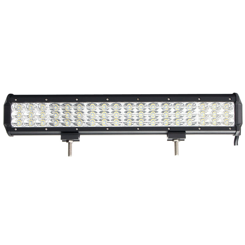 Spot Flood Combo 17Inch 54LED Tri Row Work Light Bar 162W For SUV For JEEP DC10-30V 6000K Waterproof IP68 1pcs 120w 12 12v 24v led light bar spot flood combo beam led work light offroad led driving lamp for suv atv utv wagon 4wd 4x4