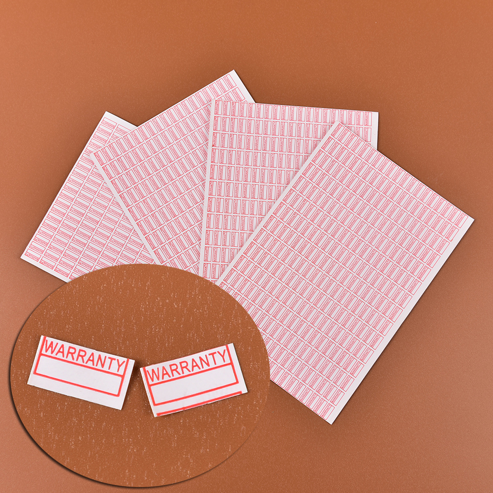 1000pcs/pack Warranty Void If Removed Sticker Security Seal Red Color Rectangle Shape Fragile Label Size 10mm*5mm