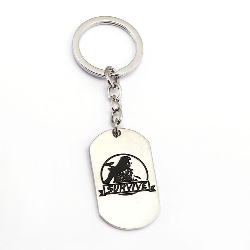 Horizon Zero Dawn Keychain Dog Tag Key Ring Holder Metal Fashion Car Bag Chaveiro Key Chain Pendant Game Jewelry