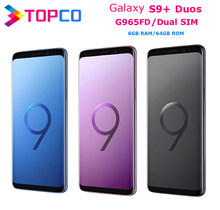 Samsung galaxy celular s9 + duos s9 plus, telefone móvel g965fd, dual sim, original, exynos octa core, tela 6.2