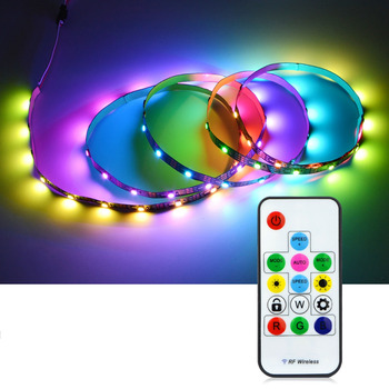 30 LEDs / M RGB Individually Addressable LED Under Cabinet Light 2811 IC Kitchen Closet Smartled Pixel Light For TV Diode Tape