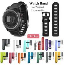 13 Цветов силиконовый ремешок Смарт часы Браслет замена для Garmin Fenix3 Fenix3 HR Fenix5 X