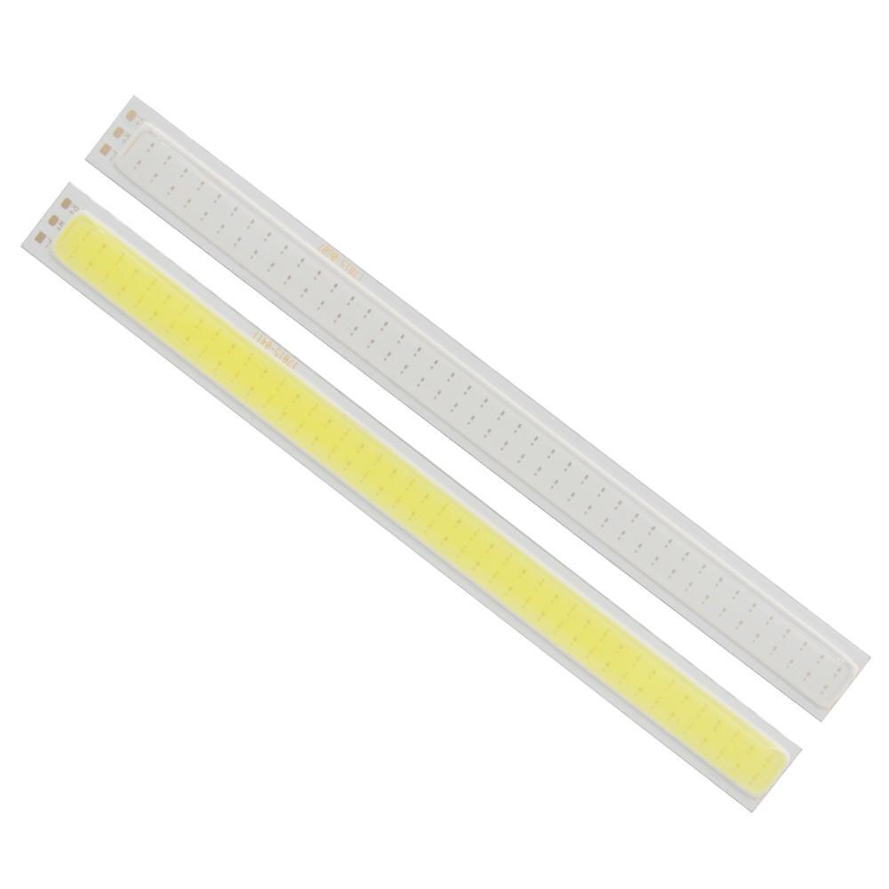 Купить с кэшбэком hot sale allcob manufacturer 170*15mm double Color White Red Orange moudle Light 12V DC 8W LED COB Strip for daytime 12V light