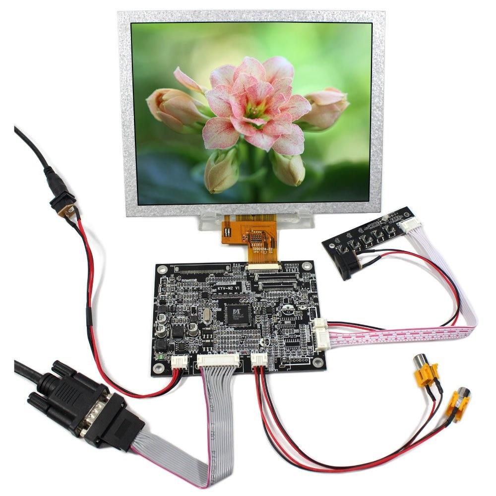 VGA 2AV Reversing LCD Controller Board 8 EJ080NA-04C1024x768 LCD Screen vga 2av audio reversing lcd driver board 10 1inch n101bge 1366 768 lcd panel