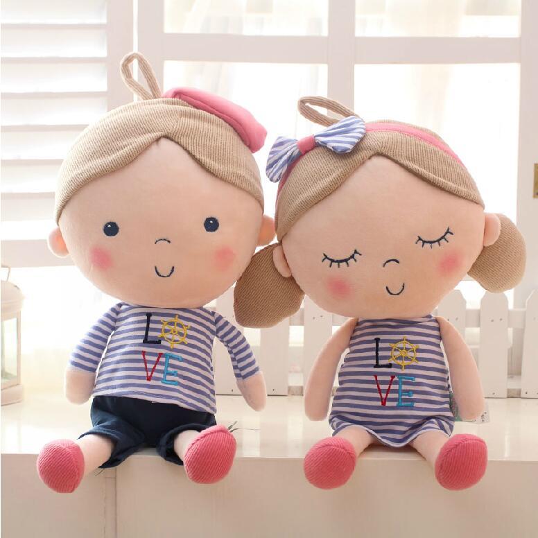 2 Pcslot 30 Cm Kekasih Mainan Mewah Boneka Lucu Kartun Pasangan