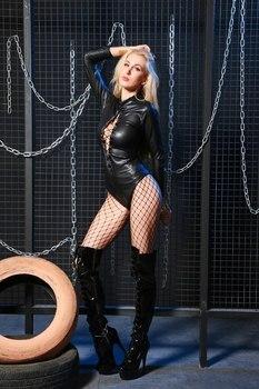 PU Leather Bondage Bodysuit 4
