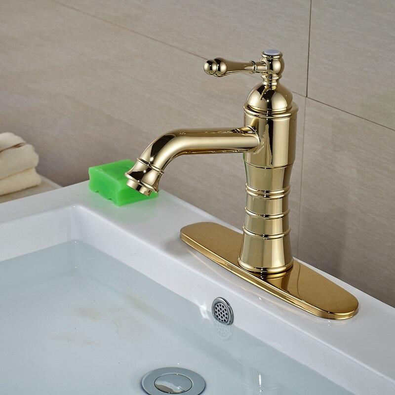 Здесь продается  Contemporary Bathroom Sink Faucet W/ Hole Cover Plate Single Holder Single Hole Mixer Taps  Строительство и Недвижимость