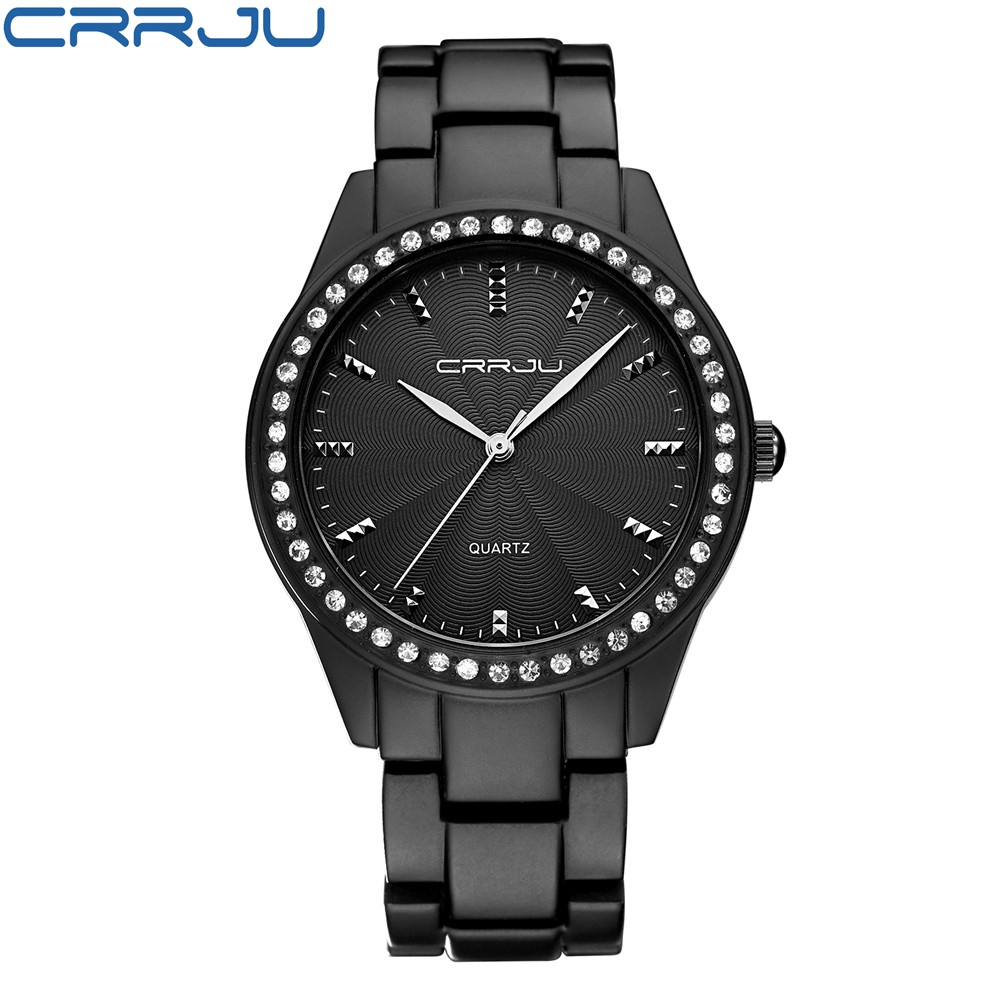 цены  CRRJU 2017 Top Fashion Women Watches Hot Sale Ladies Famous Brand Dress Quartz Watch Clock Female Montre Femme Relogio Feminino
